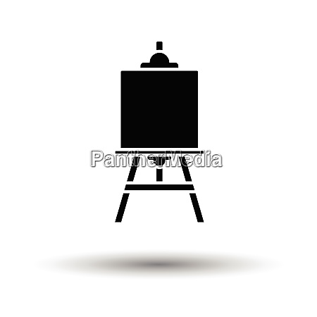 easel icon white background with shadow