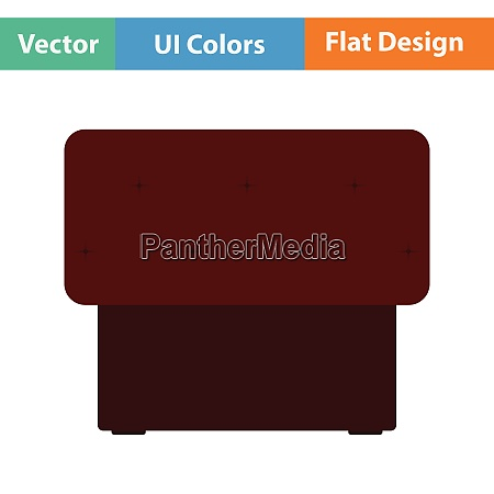 bedroom pouf icon flat design vector