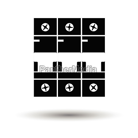 circuit breaker icon white background with