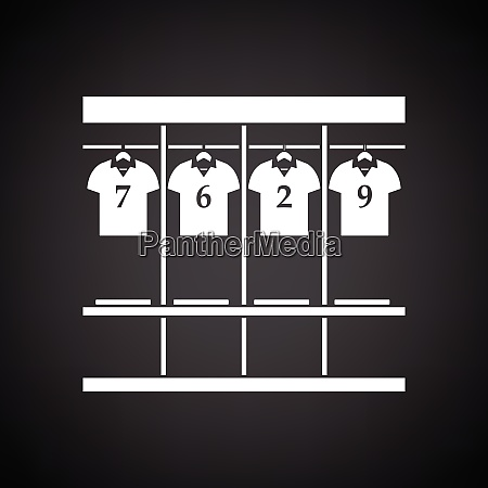locker room icon black background with
