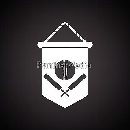 cricket shield emblem icon black background