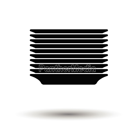 plate stack icon white background with