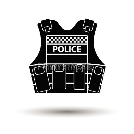 police vest icon white background with