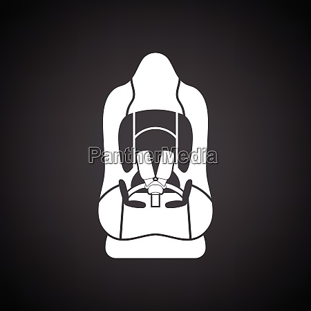 baby car seat icon black background