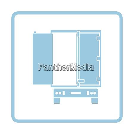 truck trailer rear view icon blue