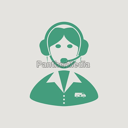 logistic dispatcher consultant icon gray background