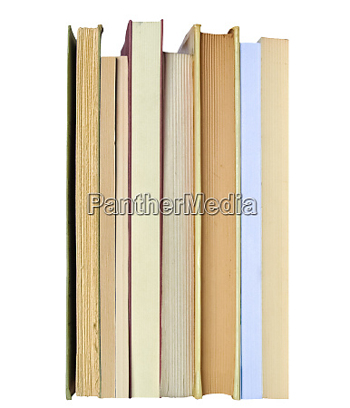 many books over white