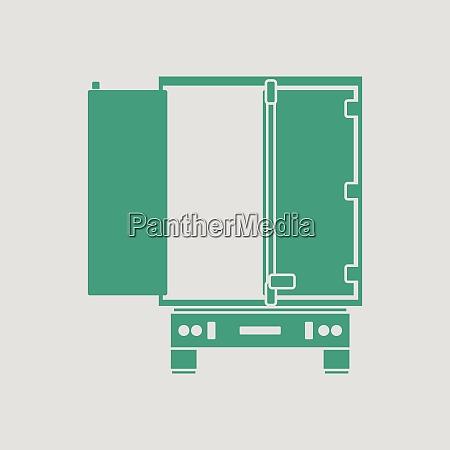 truck, trailer, rear, view, icon., gray - 26246043