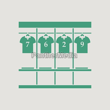locker room icon gray background with