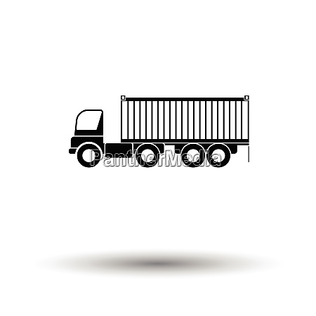 container truck icon white background with