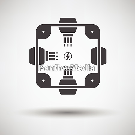 electrical junction box icon on