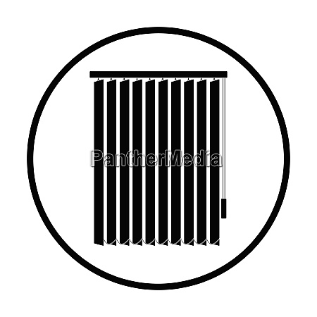 office vertical blinds icon thin circle