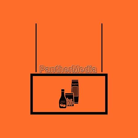grocery market department icon orange background