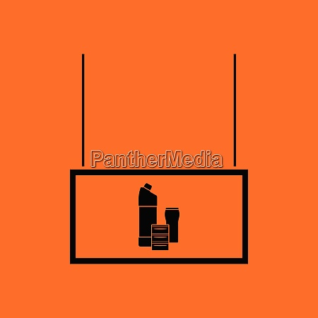 household chemicals market department icon orange