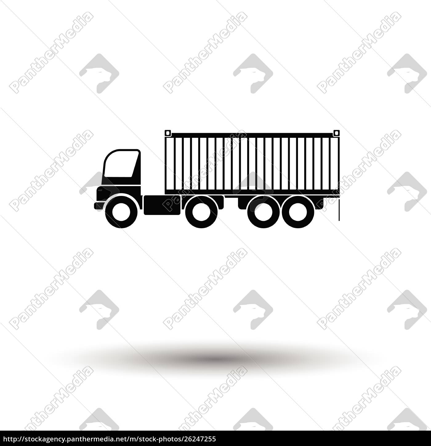 container, truck, icon., white, background, with - 26247255