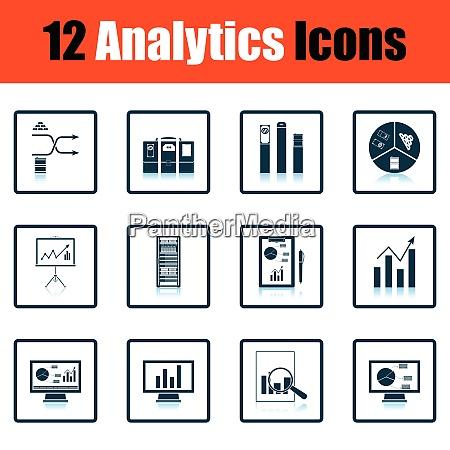 analytics icon set analytics icon set
