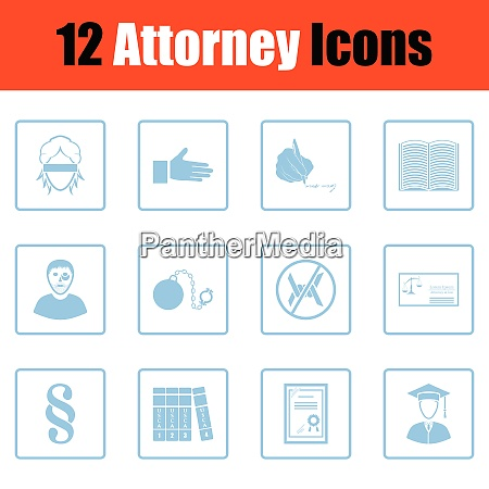 set of attorney icons set of