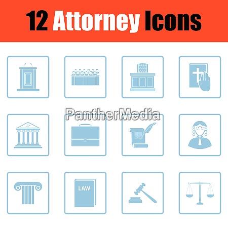 set of attorney icons set