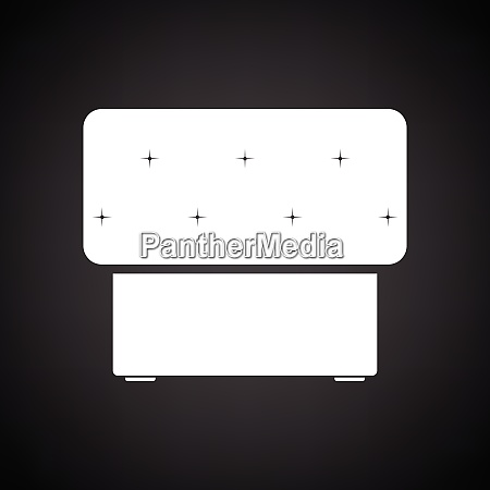 bedroom pouf icon black background with