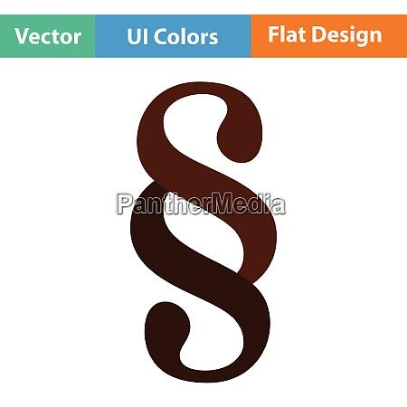 paragraph symbol icon flat color design