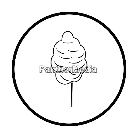 cotton candy icon thin circle design
