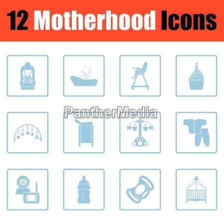 motherhood icon set motherhood icon set