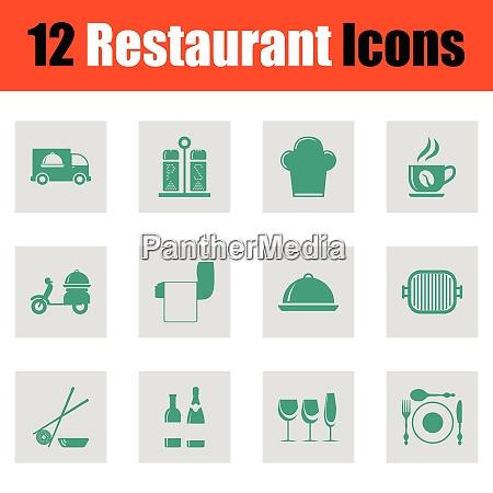 restaurant icon set restaurant icon set