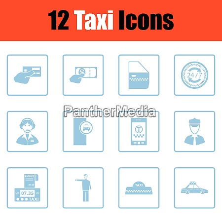 set of taxy icons set of