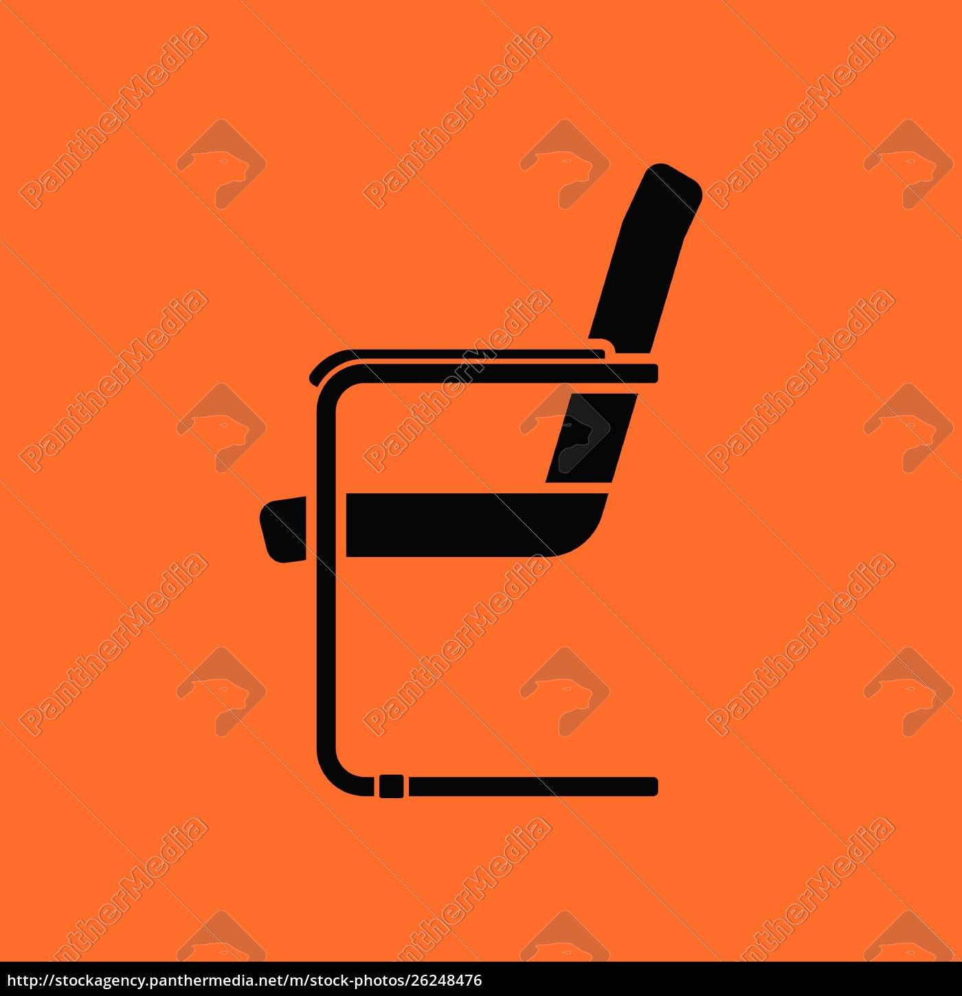 guest, office, chair, icon., orange, background - 26248476