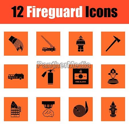 set, of, fire, service, icons., orange - 26248035