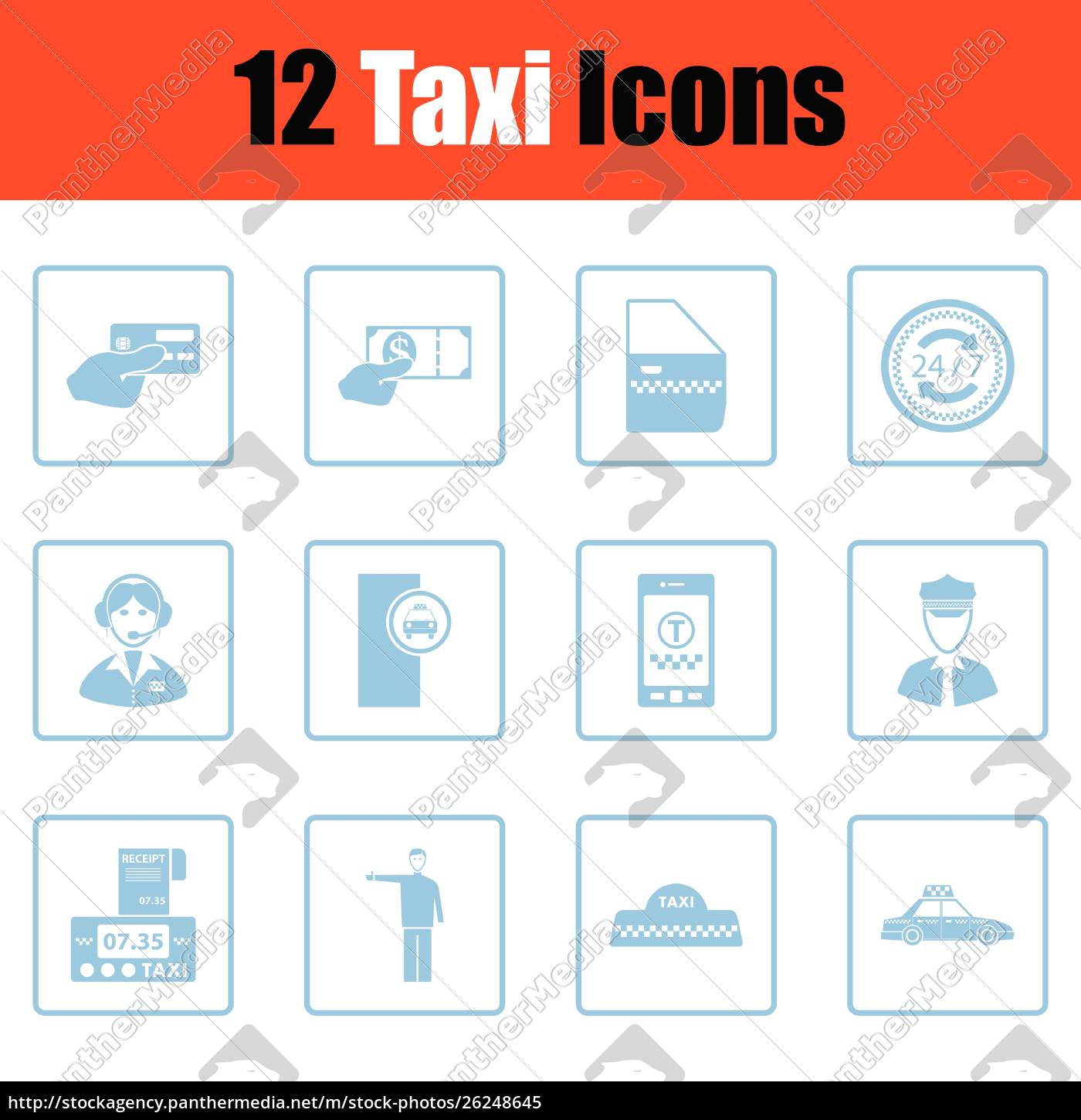 set, of, taxy, icons., set, of - 26248645