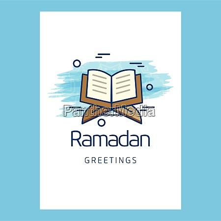 ramadan typographic design with unique style