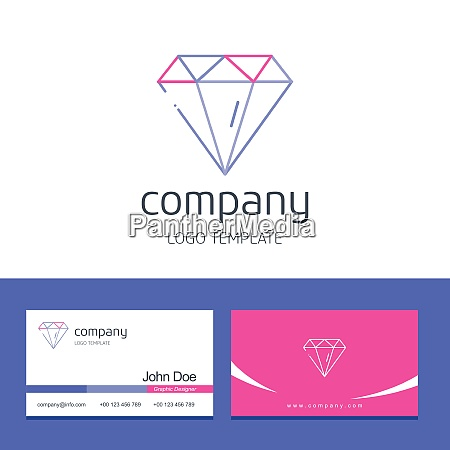 business card design with business