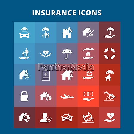 insurance icons for web design and