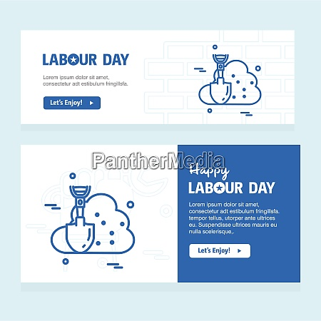 happy labour day design with blue