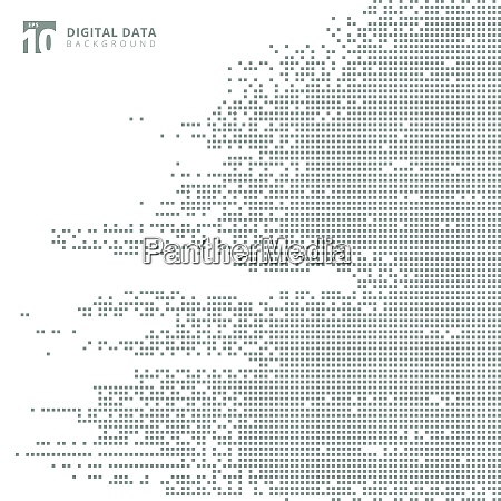 abstract technology digital data square gray
