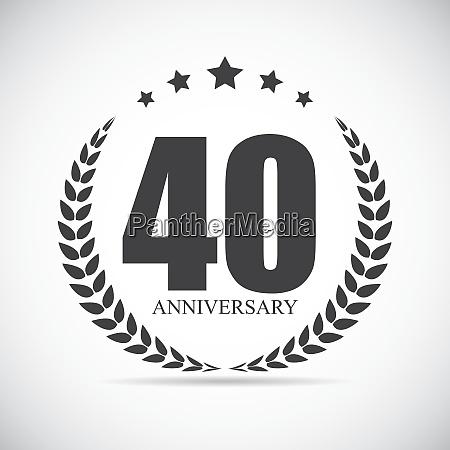 template logo 40 years anniversary vector