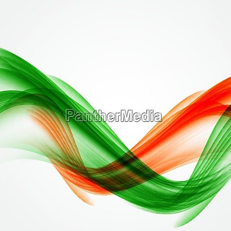 abstract green and orange wave on