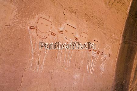 five faces pictograph canyonlands national park