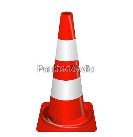 road signs orange badge guardrails vector