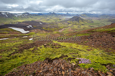 scenic nature landscape of landmannalaugar in
