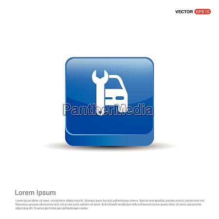 car repair icon 3d blue