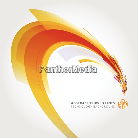 abstract vector background element in yellow