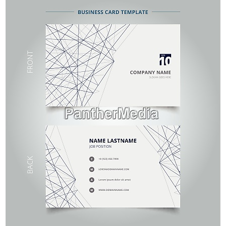 name card business template lines structure