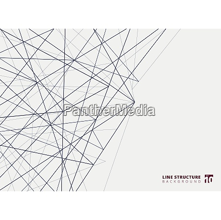 abstract overlap lines structure on white
