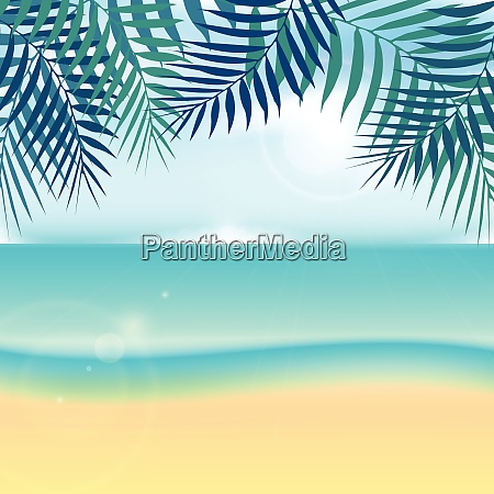 nature, summer, vacation, tropical, background, with - 26262431