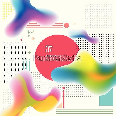 abstract modern art geometric plastic colorful