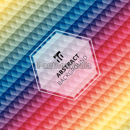 abstract geometric hexagon pattern colorful background