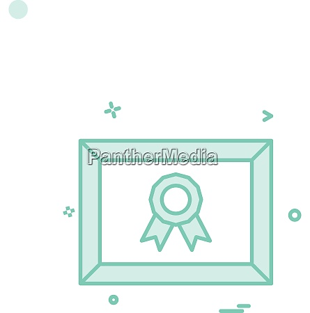 medal certificate icon design vector