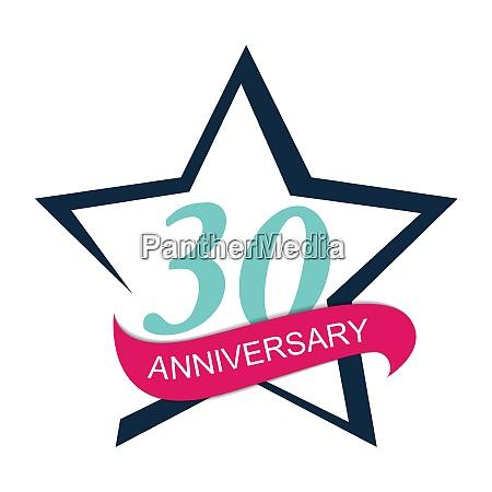 template logo 30 anniversary vector illustration